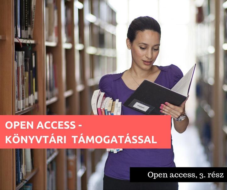 Open access - könyvtári támogatással