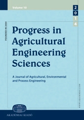 Progress in Agricultural Engineering Sciences
