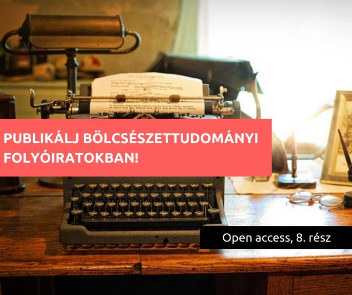 Publikálj open access úton bölcsészettudományi folyóiratokban