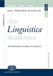 Acta Linguistica Hungarica