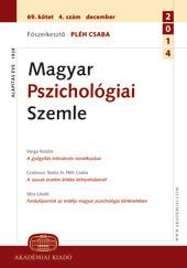Magyar Pszichológiai Szemle