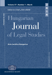 Hungarian Journal of Legal Studies