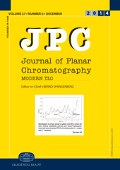 JPC – Journal of Planar Chromatography – Modern TLC