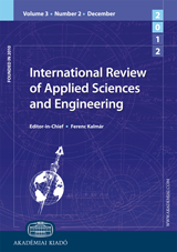 International Review of Applied Sciences and Engineering